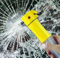 Emergency safety hammer 5 in 1 multi-function car warning light cutter led flashlight lamp vehicle maintenance for survival