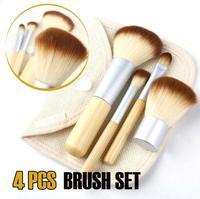 New 1set/4Pcs Bamboo Elaborate Powder Blending Eyeshadow Makeup Brushes Professional Cosmetic Make Up Brush Set#DJW20