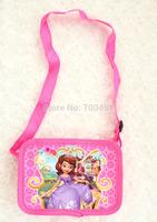 Free Shipping 24pcs  purse cartoon kids snack pack single shoulder satchel