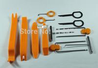 2014 New 1set free shipping 12pcs Auto Car Radio Door Clip Panel Trim Dash Audio Removal Installer Pry Tool Hand Tools