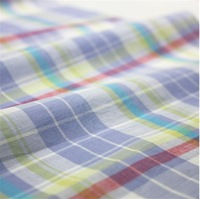 Super Thin 80s Pure Cotton Yarn-dyed plaid Fabric  145 cm 57'' width  52 gsm shirt skirt fabric sewing fabric small wholesale