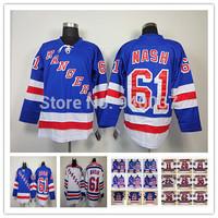 Free Shipping Discount Authentic New York Rangers Ice Hockey Jerseys #61 Rick Nash Jersey Cheap Wholesale Mixed Order