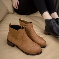 2014 autumn fashion martin boots Women  thick heel  boots vintage women's leather shoes