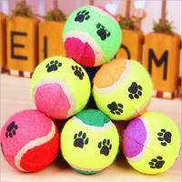 PET SUPPLIES DOG TOY TENNIS BALLS RUN FETCH THROW PLAY TOY CHEW TOY WHOLESALE 5pcs/lot