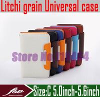 [ 10pcs/lot ] [ Litchi grain ] 5.0''inch - 5.6''inch wallet flip cover case for ZOPO C2 ZP980 C3 ZP800 ZP810 ZP780 phone sets