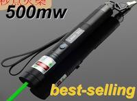 Free shipping EMS Wholesale Wholesale 500mw 303 high-power Gypsophila green laser pointer point spike matchesnew