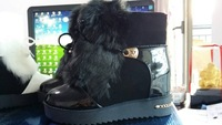 new 2015 fashion autumn and winter women warm snow boots short plush thick bottom female short boots
