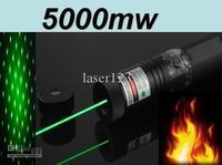 Wholesale - Limit to sell! 303 Laser Pointer 5000 mW tune the focus match lockable green laser flashlight Pointer Pen Freeshippi