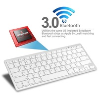 Free Shipping Ultra-slim Wireless Keyboard Bluetooth 3.0 for Apple iPad & iPhone Series,Mac Book, Samsung Phones and Tablets