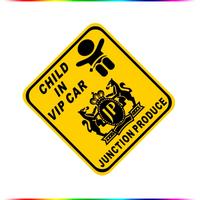 "[11.5*12.5] Free Shipping Reflective Sticker ""Child in VIP Car"" Sticker Car Stickers"