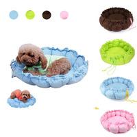 2014 New arrival Drawstring Pumpkin Soft Cozy Warm Round Cat Puppy Dog Pet Bed Nest Cushion Pad