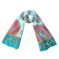 1 PC fashion180x100cm brand spain desigual scarf printed women scarves ladies cotton voile scarves wraps Autumn Winter Shawl