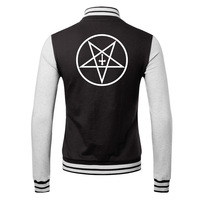 Satan  2015 new winter men's cardigan sweater personalized rock lovers male coat