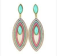 2014 The new Ebay Hot European and American fashion resin earrings B495