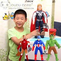 4pcs/lot Plush toys The Avengers Thor Spiderman Batman toys Hulk Ironman Captain America shield Superman stuffed Brinquedos 40cm