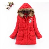 2014 new winter women's Slim waist lace hooded cotton winter jacket women's jackets winter coat