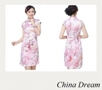 Free shipping 2014 Traditional Chinese Dress Women's Rayon Qipao Mini Cheong-sam chinese style dress Qi pao D0151