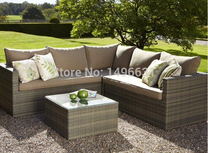 Garden View 4pcs PE Wicker Modular Sofa Set Rattan Outdoor Furniture(China (Mainland))