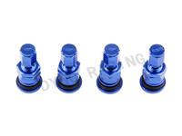 4Sets/Lot Universal Aluminum Rays Car Wheel Tyre Air Valve Caps Tire Valve Cap Blue