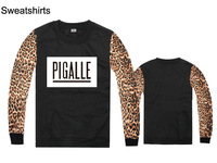 New Autumn and winter PIGALLE hiphop outerwear hoodies sweatshirts fashion leopard long-sleeved sweater cool mens clothing