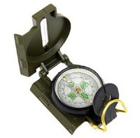 Good quality Mini Military Camping Marching Lensatic Compass Magnifier Army Green 100pcs