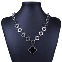 [Free Style] New Fashion Jewelry Brand Vintage  Four-leaf Clover Necklace & Pendants Gold/Silver Necklace For Christmas Gift