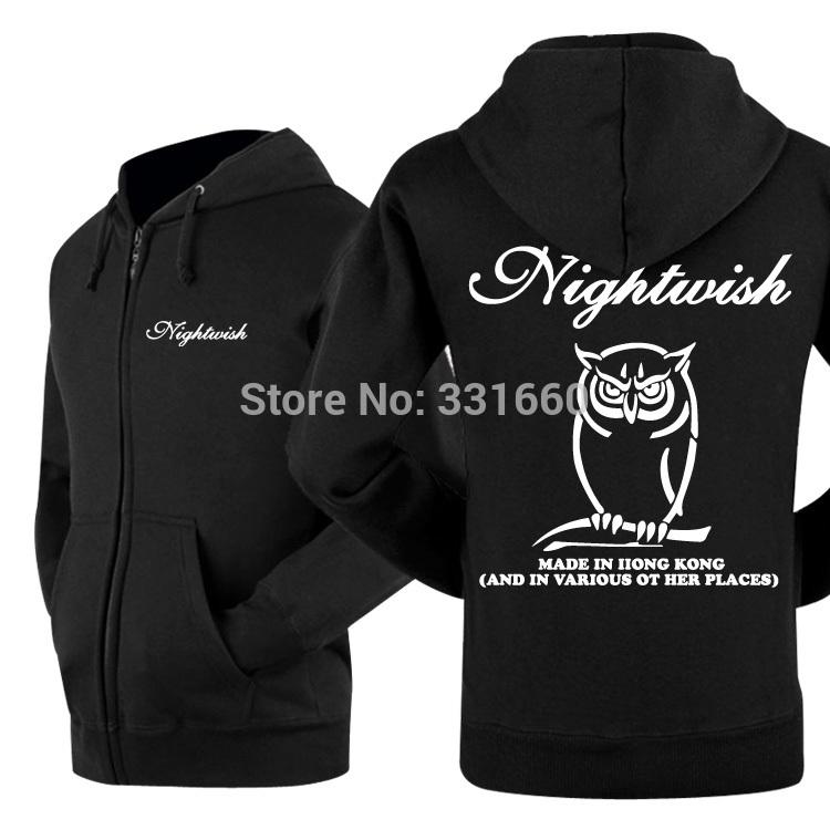 hot sell 2015 YAOCOK nightwish-2 rock band hoodie personality Pure cotton zipper fashion hooded(China (Mainland))
