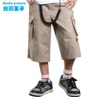 boy capris 100% child cotton capris beach pants children's clothing trousers