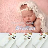 New Arrival Newborn Lace Headband Baby Christening Headband Baptism Headband Photo Props Kids Hair Accessories