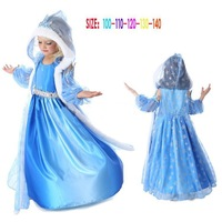 Top On Top wholesale new 2014 Hot Frozen Dress Elsa & Anna Summer Dress For Girl Princess Dresses11-14T