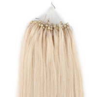 200S Loop Micro Ring Straight Hair Extension Bleach Blonde Hair Color(#613)18''-24'' 100g/pack  0.5g/strand Free Shipping