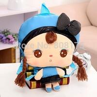 Kindergarten cartoon animal knapsack plush toys for children to school bags birthday gift