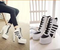 South Korea club fashion waterproof Taiwan high-heeled Martin boots shoes color