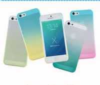 Free Drop Shipping! Rainbow Case Cover for Apple iPhone 5/5s/5g Pastel Clouds Ombre Colorful Rainbow Soft