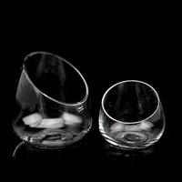 Free shippingSpecial new training saliva droplets oblique transparent glass vase modern minimalist home office flower vase