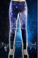 Freeship B155 Brand Elastic Sky Digital Print Waist Sexy Women Legging 2014 New Leggings Famale Latest Club Legging Dance Pants