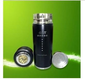 Alkaline water cup stainless steel vacuum flask Tourmaline Nano Energy Cup weak alkaline water cup(China (Mainland))