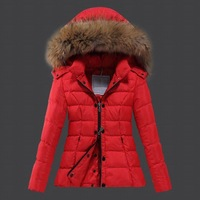 2014 New women ladies duck down feather padded jacket coat coats outer wear parkas winter puffer