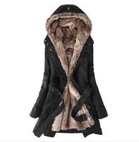 2014 new women's winter jacket and long sections Slim warm cotton wool liner women coat winter down jacket for women parka