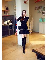 2014 Hitz large size women was thin waist stitching bottoming skirt 8218