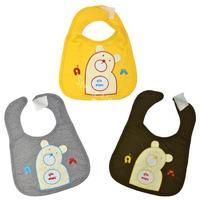 Toddler Baby Infants kids bibs lunch Bear Pattern soft Saliva towel 3 Colors