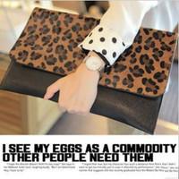 Leopard  female envelope hand bag clutch bag evening bag clutch
