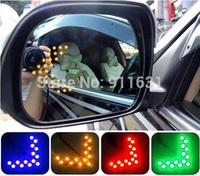 2PCS 100% Car 14 SMD Arrow Lights Car Side Rearview Mirror Led Car Turn Signals Lights Decorative Light Accessories Panels Light