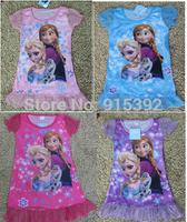 Fashion Girls Frozen clothes Queen Elsa Anna dress Girls Children Kids cartoon princess dress 3-10Ys