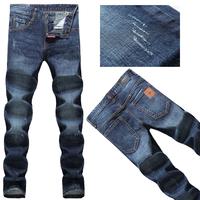 2014  Europe and America Fashion Plaid Men's DSQ Slim Straight jeans dark blue jeans D2 denim trousers