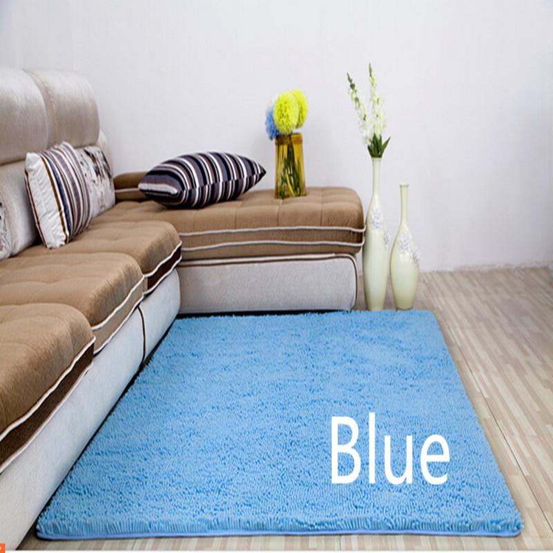 Grátis frete venda quente 60 cm * 90 cm genérico lavável nova grosso chenille tapete Shaggy tapetes de banheiro tapete de banho tapete dez cores(China (Mainland))