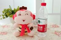 Free shipping mini size monkey plush toy scarf monkey doll 18cm size Christmas gift 10pcs/lot