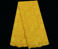 No.ASL41-2,african style popular cord lace for party ,high quality guipure lace fabric yellow on sale!