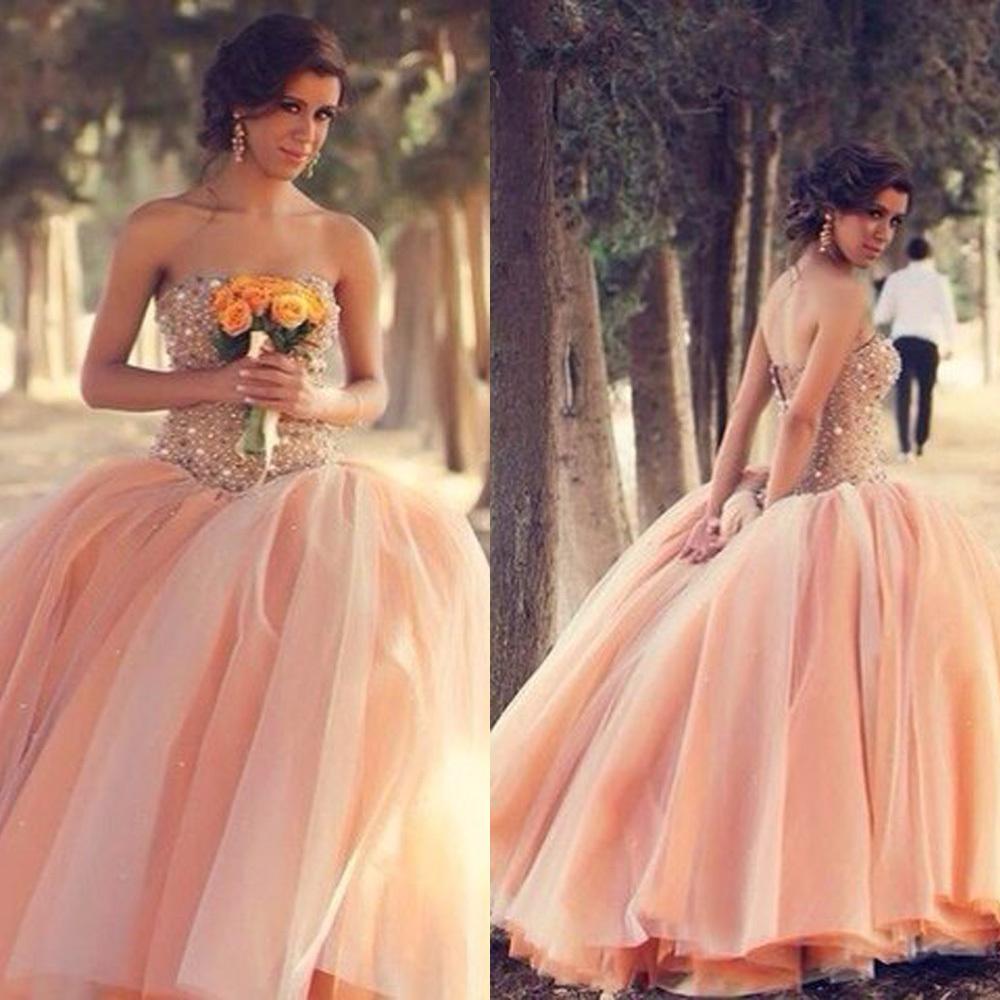 Wedding Peach Dress Up - Amore Wedding Dresses