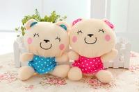 Free shipping mini size bear plush toy teddy bear plush doll 25cm size bear 1pair /lot Christmas gift